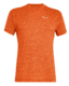 Salewa PUEZ Melange Dry M S/S TEE, Red orange melange L - 1/2