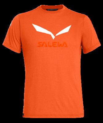 Salewa Solidlogo DRI-REL M S/S TEE, Red orange melange L