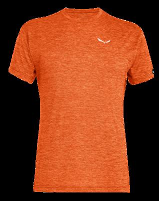 Salewa PUEZ Melange Dry M S/S TEE, Red orange melange XL - 1