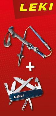 Leki Micro Vario Carbon 6492062 + nůž Victorinox  - 1