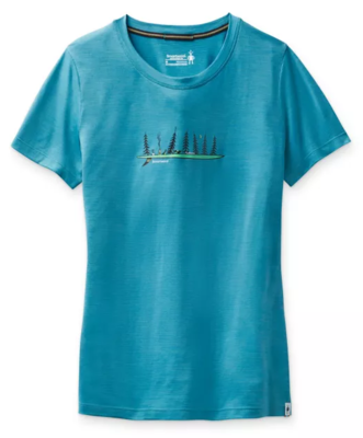 Smartwool W Merino Sport 150 Camping With Friends Graphic Tee  - 1