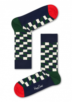 Happy Socks Filled Optic Sock FIO01-7002 - 1