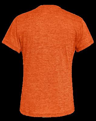 Salewa PUEZ Melange Dry M S/S TEE, Red orange melange L - 2