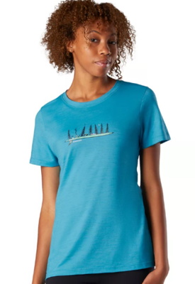 Smartwool W Merino Sport 150 Camping With Friends Graphic Tee  - 2