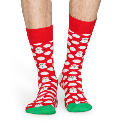 Happy Socks Big Dot Snowman BDS01-4300 - 2